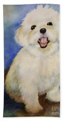 Maltese Named Ben Hand Towel by Marilyn Jacobson