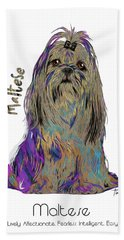 Maltese Pop Art Bath Towel