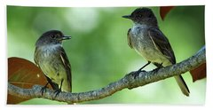 Mama And Papa Kingbird Bath Towel