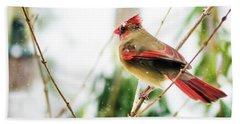 Mama Cardinal Hand Towel