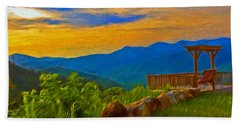 Blue Ridge Sunset From Mama Gertie's Hideaway Hand Towel