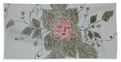 Mama Rose And Her Babies Hand Towel by Sharyn Winters