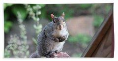 Mama Squirrel Bath Towel