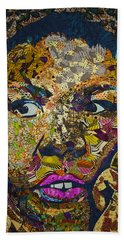 Bath Towel featuring the tapestry - textile Mama's Watching by Apanaki Temitayo M
