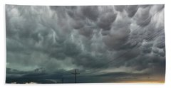 Bath Towel featuring the photograph Mammatus Over Montata by Ryan Crouse
