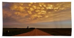 Mammatus Road Hand Towel by Ed Sweeney