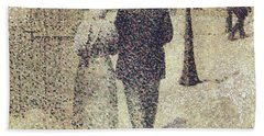Man And Woman In The Street Hand Towel