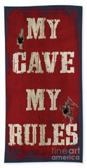 Man Cave Rules Bath Towel