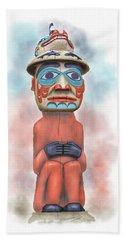 Man From Bear Clan Hand Towel