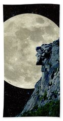 Man In The Moon Meets Old Man Of The Mountain Vertical Bath Towel
