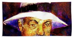 Man In The Panama Hat Hand Towel