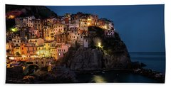 Manarola At Night Hand Towel