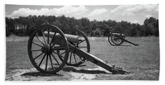 Hand Towel featuring the photograph Manassas Battlefield 2 Bw by Frank Romeo