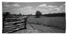Hand Towel featuring the photograph Manassas Battlefield Bw by Frank Romeo