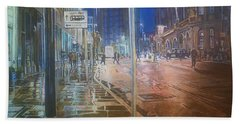 Manchester At Night Hand Towel