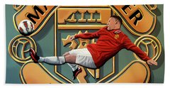 Manchester United Painting Hand Towel