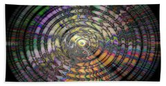 Hand Towel featuring the photograph Mandala by Cathy Donohoue