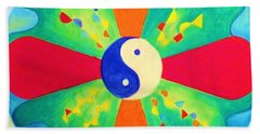 Mandala Hand Towel by Denise Fulmer