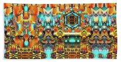 Mandala Of The Divine Radiance Of Pristine Presence Bath Towel
