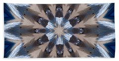 Hand Towel featuring the photograph Mandala Sea Star by Nancy Griswold