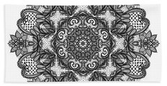 Hand Towel featuring the digital art Mandala To Color 2 by Mo T