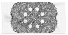 Hand Towel featuring the digital art Mandala To Color by Mo T