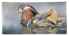 Mandarin Duck Swimming Bath Towel