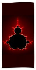 Mandelbrot Set Black And Red Square Format Hand Towel
