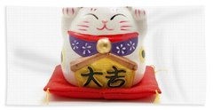 Maneki Neko Bath Towel
