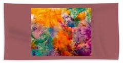 Mango Tango Abstract Bath Towel