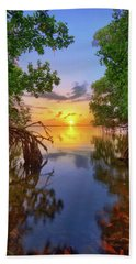 Hand Towel featuring the photograph Mangrove Sunset From Jensen Beach Florida by Justin Kelefas