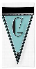 Pennant Deco Blues Banner Initial Letter G Bath Towel