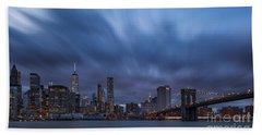 Manhattan And Brooklyn Bridge Bath Towel