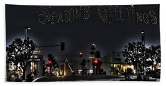 Manhattan Beach Christmas Hand Towel