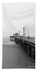 Manhattan Beach Pier On Film Bath Towel