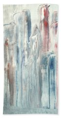 Hand Towel featuring the painting Manhattan by Bill OConnor