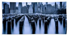 Hand Towel featuring the photograph Manhattan Blues by Chris Lord