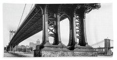 Manhattan Bridge, Afternoon Hand Towel