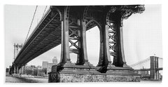 Manhattan Bridge, Afternoon Hand Towel