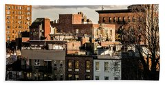 Manhattan From The Whitney Bath Towel