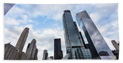 Manhattan In New York City Hand Towel