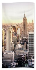 Manhattan Hand Towel by Michael Weber