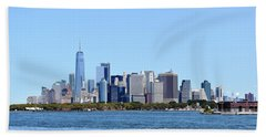 Manhattan Skyline 1 Bath Towel