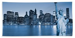 Manhattan Skyline Hand Towel