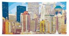 Manhattan Skyline New York City Hand Towel
