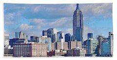 Manhattan Skyline No. 7-1 Hand Towel by Sandy Taylor