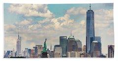 Manhattan Skyline Hand Towel