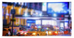 Manhattan Taxi Squadron Bath Towel by Mark Andrew Thomas