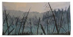 Bath Towel featuring the painting Manitoulin Beaver Meadow by Ian  MacDonald