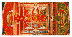 Manjuvara Thangka Mandala Bath Towel